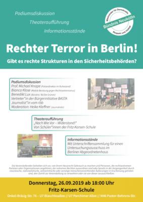 Rechter Terror in Berlin! @ Fritz-Karsen-Schule