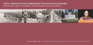 Vernichtung durch Zwangsarbeit in Griechenland - Bildervortrag @ Dokumentationszentrum NS-Zwangsarbeit