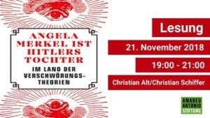 Lesung: Im Land der Verschwörungstheorien @ Amadeu Antonio Stiftung | Berlin | Berlin | Deutschland