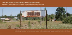 Aufstand im Vernichtungslager Sobibor vor 75 Jahren - Gespräch @ Holocaust-Mahnmal Stelenfeld | Berlin | Berlin | Deutschland