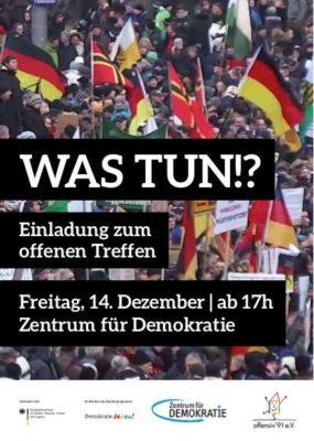Was tun!? - Einladung zum offenen Treffen @ Zentrum für Demokratie  | Berlin | Berlin | Deutschland